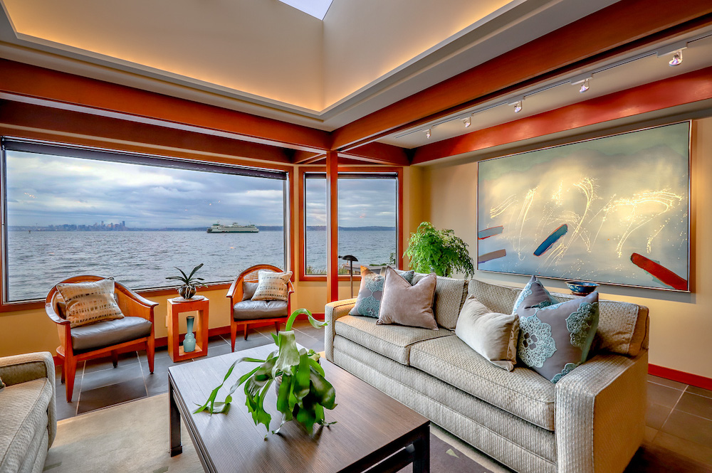 living room with ferry