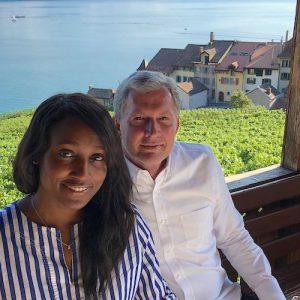Ashley Mathews Bainbridge Broker and husband