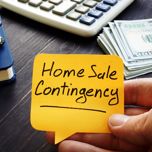 home sale contingency note