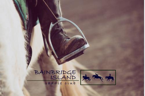 Bainbridge Saddle Club logo horse