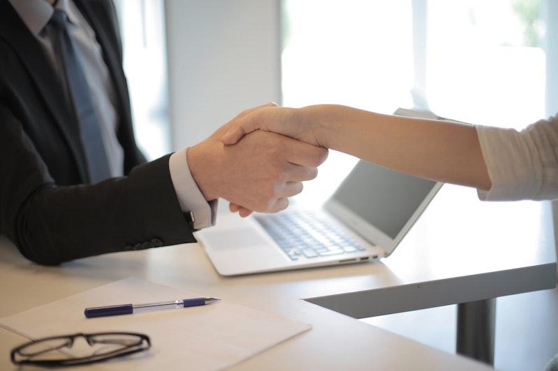 business professionals handshake